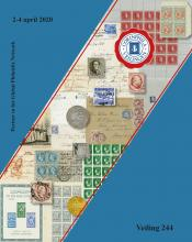 Corinphila Veilingen Auction 244 -Netherlands and former colonies, WW2 Postal History, Bosnia, German and British colonies, Egypt. - Day 1